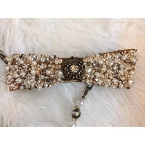 Mary Frances Bags - Mary Frances Prima Donna Gold Pearl Clutch Purse
